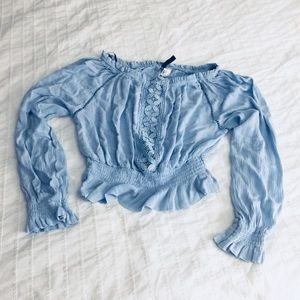Baby blue Divided Blouse Juniors